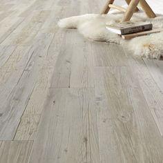 Lame vinyle coller imitation bois vieilli blanc artline calypso saint mac - Lame de sol pvc adhesive ...