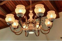 Light fixture from 1927 Spanish Eclectic home in Redlands, CA.