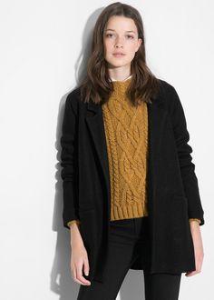 Manteau déstructuré en laine - 60€