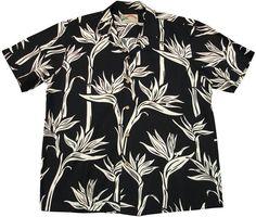 パラダイスファウンド【パレアウパラダイス/ブラック】 - メンズ アロハシャツ - アロハシャツ | アロハアウトレット セレクトショップ Tropical Fashion, Tailored Shirts, Aloha Shirt, Dress Patterns, Printed Shirts, New Look, Hawaiian, Pattern Design, Men Casual