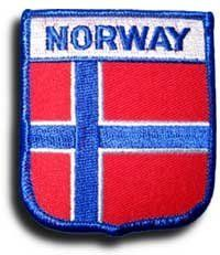 Norway - Country Shield Patches by Flagline. $2.75. Save 30% Off!