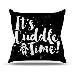 KESS InHouse Cuddle Time Throw Pillow Size: 18'' H x 18'' W