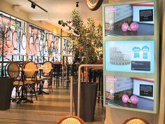Bianchi Café and Cycles, Stockholm, Sweden. Last Meter Marketing by ZetaDisplay.