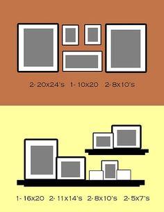 wall photo layout ideas