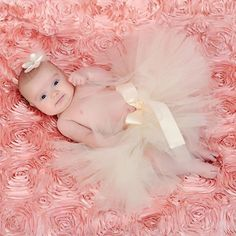 Zilly Bean Infant Ivory Solid Tutu. Ivory tutu with satin bow for infant. See More Tutus And Pettiskirts at http://www.ourgreatshop.com/Tutus-And-Pettiskirts-C209.aspx