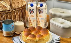 Try this Japanese Soft Milk Bun Recipe: Courtesy of The MeatMen Recipe Fr, Bun Recipe, Recipe Using, Home Recipes, Baking Recipes, Hokkaido Milk Bread, Milk Bun, Instant Yeast, Soy Milk