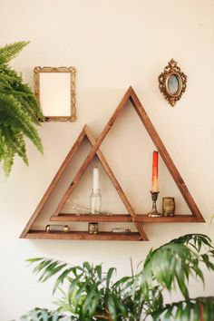 Mountain Rangle triangle shelf by DarkMarqueeDesigns on Etsy https://www.etsy.com/listing/234444189/mountain-rangle-triangle-shelf