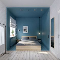 10 raffinierte Ideen für kleine Schlafzimmer Small Scandinavian furnished bedroom by Anyone looking for tips on how to set up their small bedroom will find it in this article! Sweet Home, Interior Exterior, Interior Architecture, Russian Architecture, House Architecture, Home Bedroom, Bedroom Decor, Bedroom Alcove, Bedroom Photos