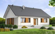 #projekt #domu Daktyl 2 to niewielki dom parterowy, przeznaczony dla 4-5 osobowej rodziny. Mimo niewielkich rozmiarów , dzięki dobrze zagospodarowanej przestrzeni, będzie bardzo wygodny w użytkowaniu. Niewątpliwym atutem projektu jest jasny podział na strefę ogólnodostępną i prywatną - przeznaczoną tylko dla mieszkańców. W tej drugiej zlokalizowano trzy sypialnie, dużą łazienkę, oraz garderobę. W domu przewidziano również pomieszczenie gospodarcze, oraz duży strych. W projekcie zastosowano…