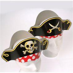 Pirate Captain Cardboard Party Hats Costume (1 Dozen) @trendingtoystore.com