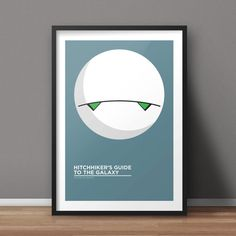 Hitchhiker's Guide to the Galaxy Poster, Book Poster, Movie Poster, Minimalist Poster, Flat Poster Design, Clean Poster Design,
