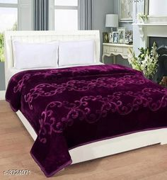 Blankets, Quilts & Dohars Premium Double Mink Bed Blankets Fabric: Mink Dimension: ( W X H ) - 95 in X 87 in   Description: It Has 1 Piece Of Double Bed Blanket Color: Purple Work: Printed Thread Count: 200 Country of Origin: India Sizes Available: Free Size *Proof of Safe Delivery! Click to know on Safety Standards of Delivery Partners- https://ltl.sh/y_nZrAV3  Catalog Rating: ★4 (4180)  Catalog Name: Beautiful Trendy Mink Double Bed Blankets Vol 1 CatalogID_520620 C53-SC1102 Code: 847-3724971-