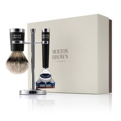 Molton Brown Luxury Brush and Razor Set...I would shave every day if I had one of these.