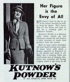 Kutnow's Powder ad, year unknown