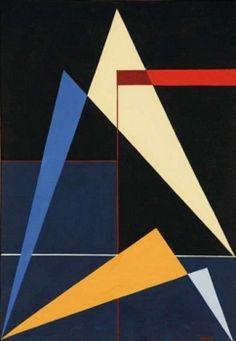 Gualtiero Nativi - Costruzione, 1948 - Tempera su tela, cm. 30,5 x 20, 5…