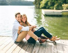 Great engagement photo attire - pssst- notice his awesome socks?!