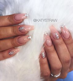 Nude and all about that jazz  For bookings please 2-3 weeks in advance. I'm sorry that I couldn't fit everybody in. Thank you for your all patience with my replying back. I've just been so busy. Xxx #swarovskicrystals #nudenails #nailartsheffield #sheffieldnails #nailsinsheffield #acrylicnails #classynails #ballerinanails @sheffieldissuperinsta #weddingnails #nailartaddict #nailsinspiration @thebrowlounge