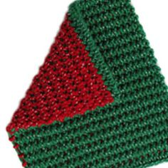 2 color green and red siberian stitch potholder pattern for sale. Crochet