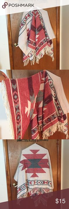 Selling this Blanket Poncho on Poshmark! My username is: zombii. #shopmycloset #poshmark #fashion #shopping #style #forsale #Empyre #Sweaters