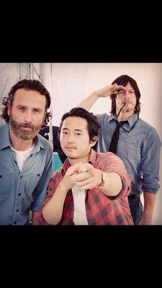 Rick, Glenn, and Daryl
