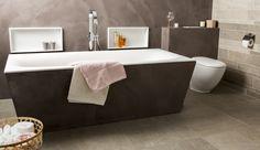 De waskommen en het bad zijn gemaakt van Solid Surface. Naast de matte en luxe uitstraling zijn de voordelen erg fijn: hygiënisch, gebruiks- en onderhoudsvriendelijk en slijtvast.