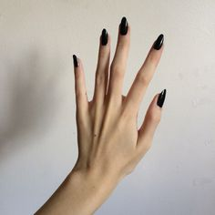 Black polish or any dark color is so sophisticated to me.