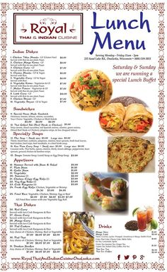 Page 2 of flavors of thai menu lacrossewi thaifood 608 for Asian cuisine indian and thai food page