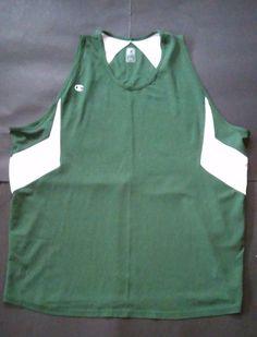 Champion Men's Double Dry Green Sleeveless Athletic Muscle Tank Shirt Size 2XL  | eBay