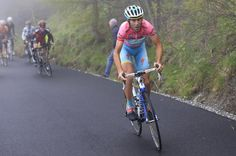 Vincenzo Nibali in pink and on the attack.  I thoroughly enjoyed the Giro d'Italia this year.