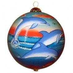 98ac2dc6a Dolphin Ornament Christmas Balls, Christmas Fun, Christmas Ornaments, Hawaii  Style, Advent,