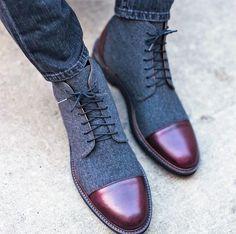 Coloured Men's Boots Mens Fashion Online, Mens Fashion Shoes, Shoes Men, Men's Fashion, Mens Boots Online, Shoes Online, Taft Boots, Dress With Boots, Dress Shoes
