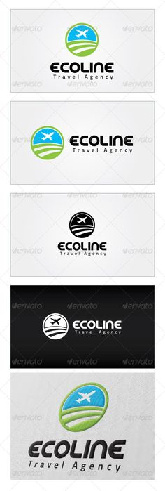 Ecoline Travel Agency Logo Template — Photoshop PSD #luggage #air line • Available here → https://graphicriver.net/item/ecoline-travel-agency-logo-template/4536678?ref=pxcr