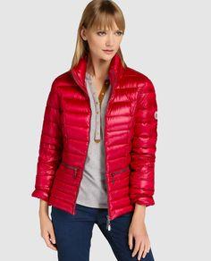 Plumífero ligero de mujer Beaumont en color rojo