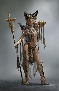Nefertiti by daeyoon huh character design fantasy art, fanta Fantasy Girl, Fantasy Women, Dark Fantasy, Egyptian Goddess, Egyptian Art, Fantasy Characters, Female Characters, Character Concept, Character Art