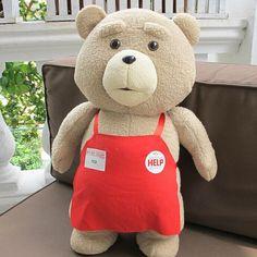 $18.50 (Buy here: https://alitems.com/g/1e8d114494ebda23ff8b16525dc3e8/?i=5&ulp=https%3A%2F%2Fwww.aliexpress.com%2Fitem%2F2015-Movie-Teddy-Bear-Ted-2-Plush-Toys-In-Apron-48CM-cute-Soft-Stuffed-Toys-Animals%2F32529115670.html ) 2015 Movie Teddy Bear Ted 2 Plush Toys In Apron cute Soft Stuffed Toys Animals Ted Bear Plush Dolls kids birthday gifts for just $18.50