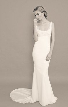 Katie May Backless Wedding Gown: Barcelona Gown. Photo courtesy of Nicole L Hill Photography. www.katiemay.com/products/barcelona #backless #backlessweddinggown #lace #bride