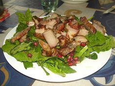 """Apaki"" traditional Cretan smoked pork with green salad #gastronomy #Cretan_diet #Greece #travelling2GR #visitGReece #come2GReece #summer2GReece  PHOTO via: mverivaki http://www.flickr.com/photos/7209077@N06/4022733496/"