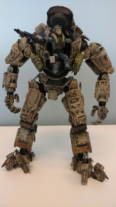Atlas Titan from the first Titanfall (with make-shift pilot disembarking)
