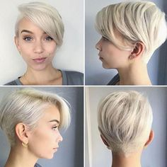 ▷ Ideas for undercut women to borrow and imitate, four photos with blond hair hanging earrings undercut hairstyles women short hair. Undercut Hairstyles Women, Undercut Women, Short Hair Undercut, Pixie Hairstyles, Short Hairstyles For Women, Short Hair Cuts, Short Hair Styles, Hairstyle Short, Hairstyles 2016