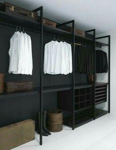 Faire un dressing pas cher soi-même facilement Diy Wardrobe, Wardrobe Storage, Wardrobe Ideas, Closet Storage, Storage Shelving, Storage Ideas, Diy Closet Ideas, Bedroom Wardrobe, Storage Hacks