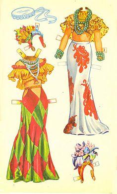 Carmen Miranda paper doll clothes / eBay
