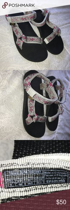 TEVAS worn a few times (like new) | size US 8                                     Cute pink + grey sandals for the summer Teva Shoes Sandals