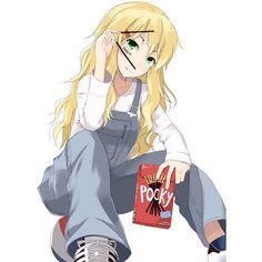 blonde hair green eyes hoshii miki ice (artist) idolmaster idolmaster... ❤ liked…