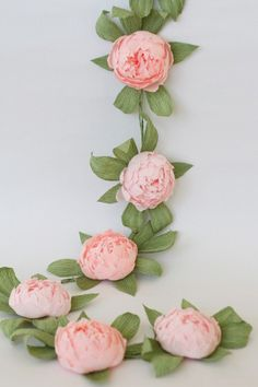 Bridal garland wedding garland paper flower garland peonies paper flower party garland paper flower decor THIS LISTING is for meter paper Paper Flower Garlands, Paper Flower Decor, Crepe Paper Flowers, Felt Flowers, Diy Flowers, Flower Decorations, Wedding Decorations, Decor Wedding, Wedding Set