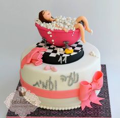 Super Birthday Cake For Teens Makeup Spas 47 Ideas Birthday Party Desserts, Birthday Cakes For Teens, 40th Birthday Cakes, Birthday Nails, Teen Cakes, Girly Cakes, Fancy Cakes, Spa Party Cakes, Spa Cake
