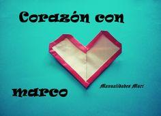 Origami - Papiroflexia. Corazón con marco