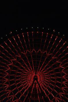 ferry wheel, Tempozan, Osaka, Night