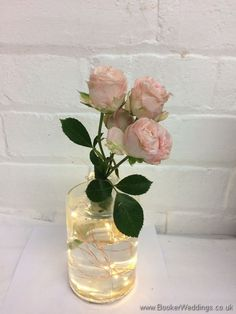 Flowers and lights in jars - perfect for a rustic wedding | Wedding Flowers Liverpool, Merseyside - Specialist Bridal Florist | Flower Delivery Liverpool - Same Day Delivery option | Florist Liverpool | Flower & Gift Shop Liverpool