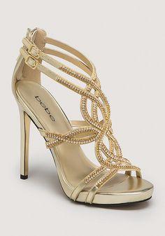 Tamia Jewel Strappy Sandals - Heels   bebe