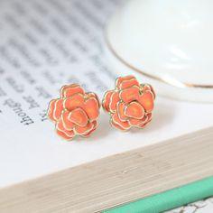 florette petals earrings in tangerine $9.99